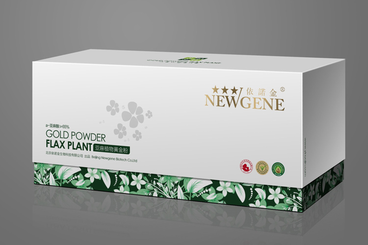 依诺金亚麻籽粉包装设计